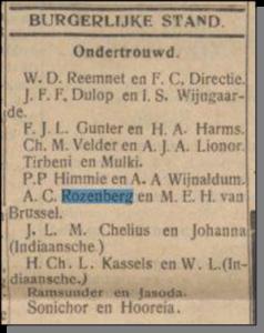 25-10-1929 ondertrouw ac rozenberg meh van brussel