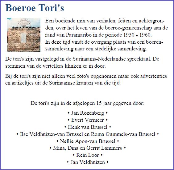 Achterflap Boeroe Tori's