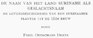 Geslachtnaam Suriname