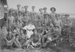 Groepsfoto militairen 1924 - r Evert Vermeer