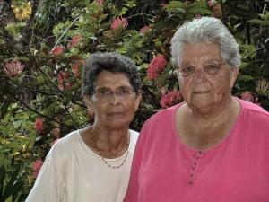 Tante Roma Gummels-van Brussel en tante Ilse Veldhuizen-van Brussel 10 aug 2007