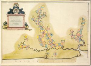 kaart plantages 1688 de wit