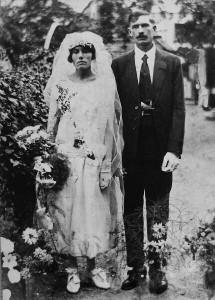 trouwfoto Jacob en Alice v Brussel-Hirschfeld