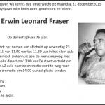 Erwin Fraser -1939-2015