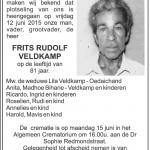 Frits Rudolf Veldkamp - 1933-2015