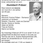 Humbert Fraser - 1946-2015