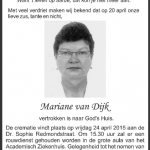 Mariane van Dijk - DWTonline.com 1955-2015