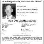 Rudi Otto van Ravenswaay - 1930-2015